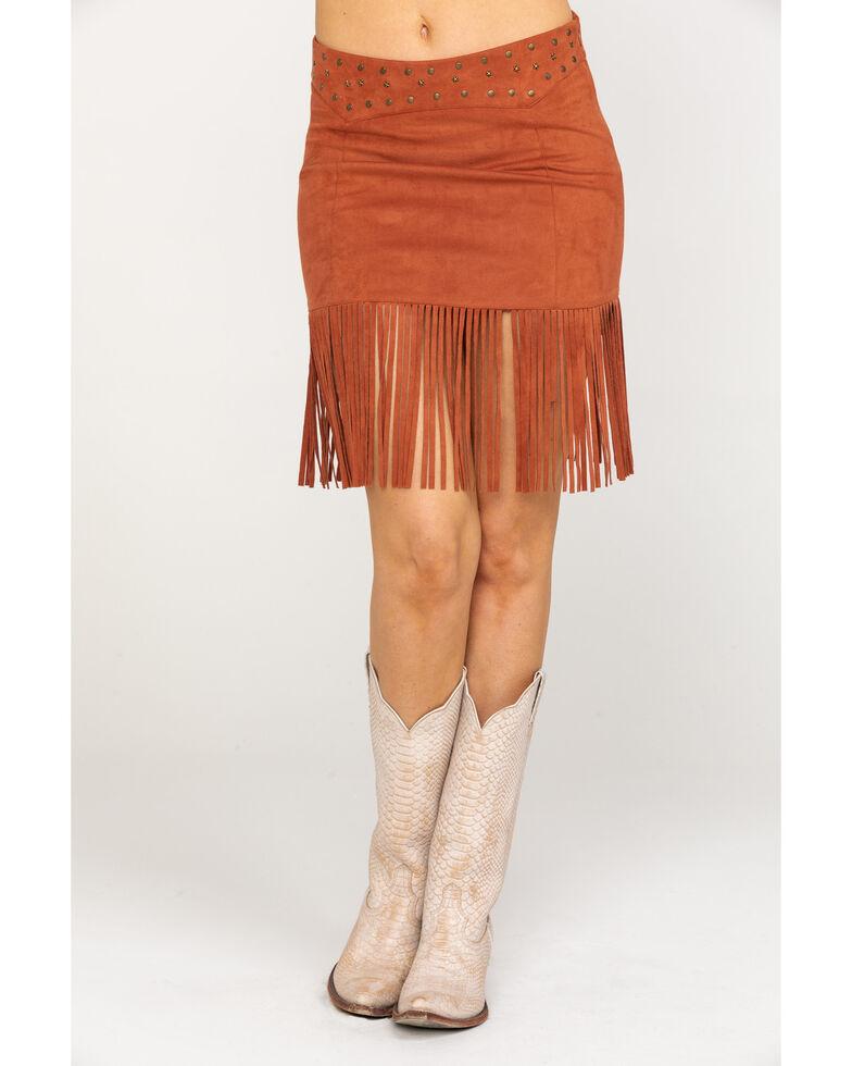Idyllwind Women's Shake It Up Skirt , Brown, hi-res