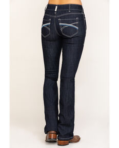 Ariat Women's Dark R.E.A.L. Savannah Bootcut Jeans, Blue, hi-res