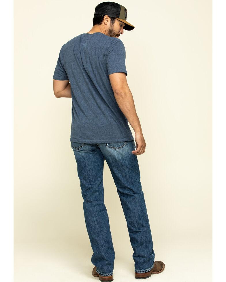 Ariat Men's Riverbend Val Stackable Rigid Relaxed Bootcut Jeans , Blue, hi-res