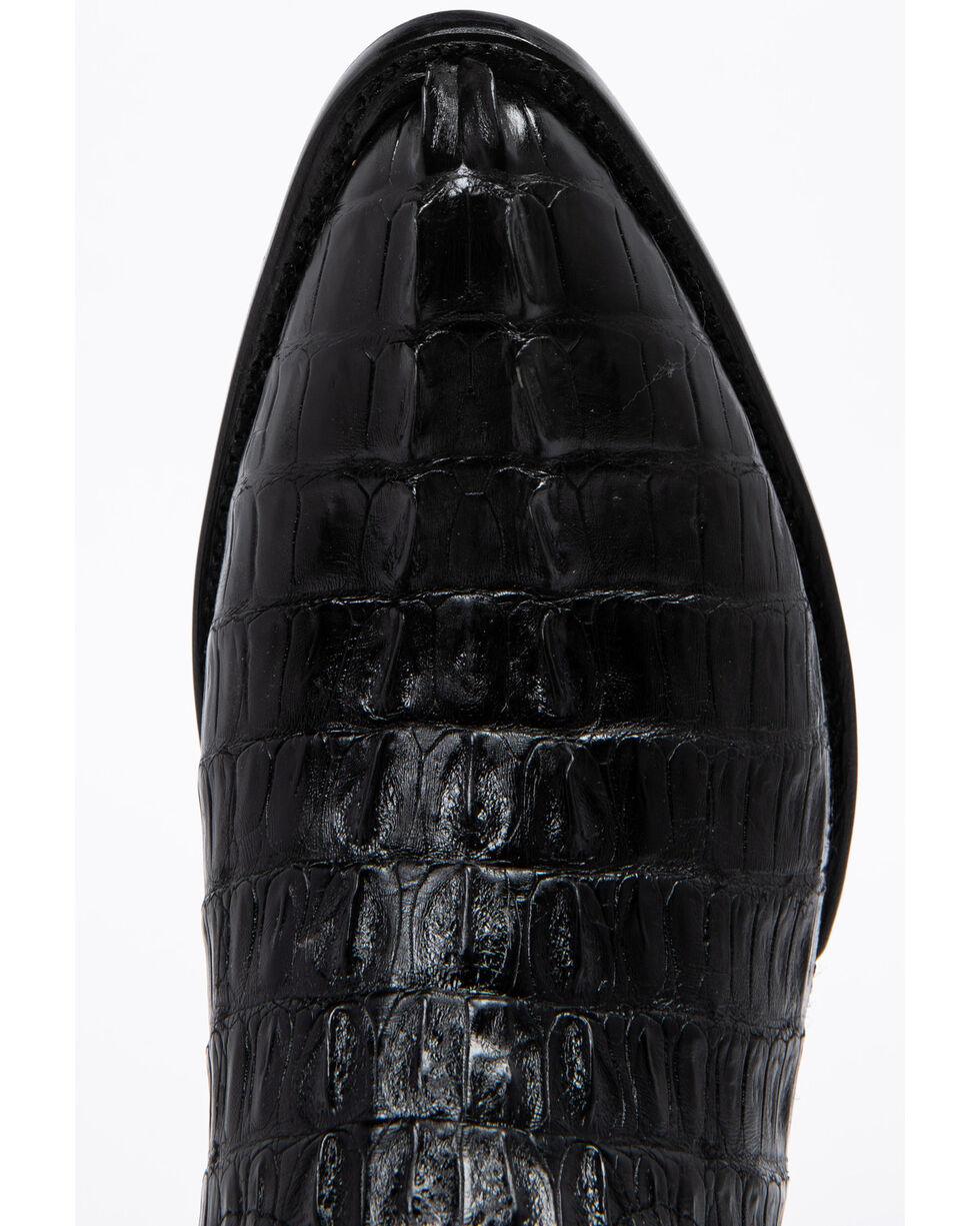 Ferrini Caiman Tail Cowboy Boots - Medium Toe, Black, hi-res