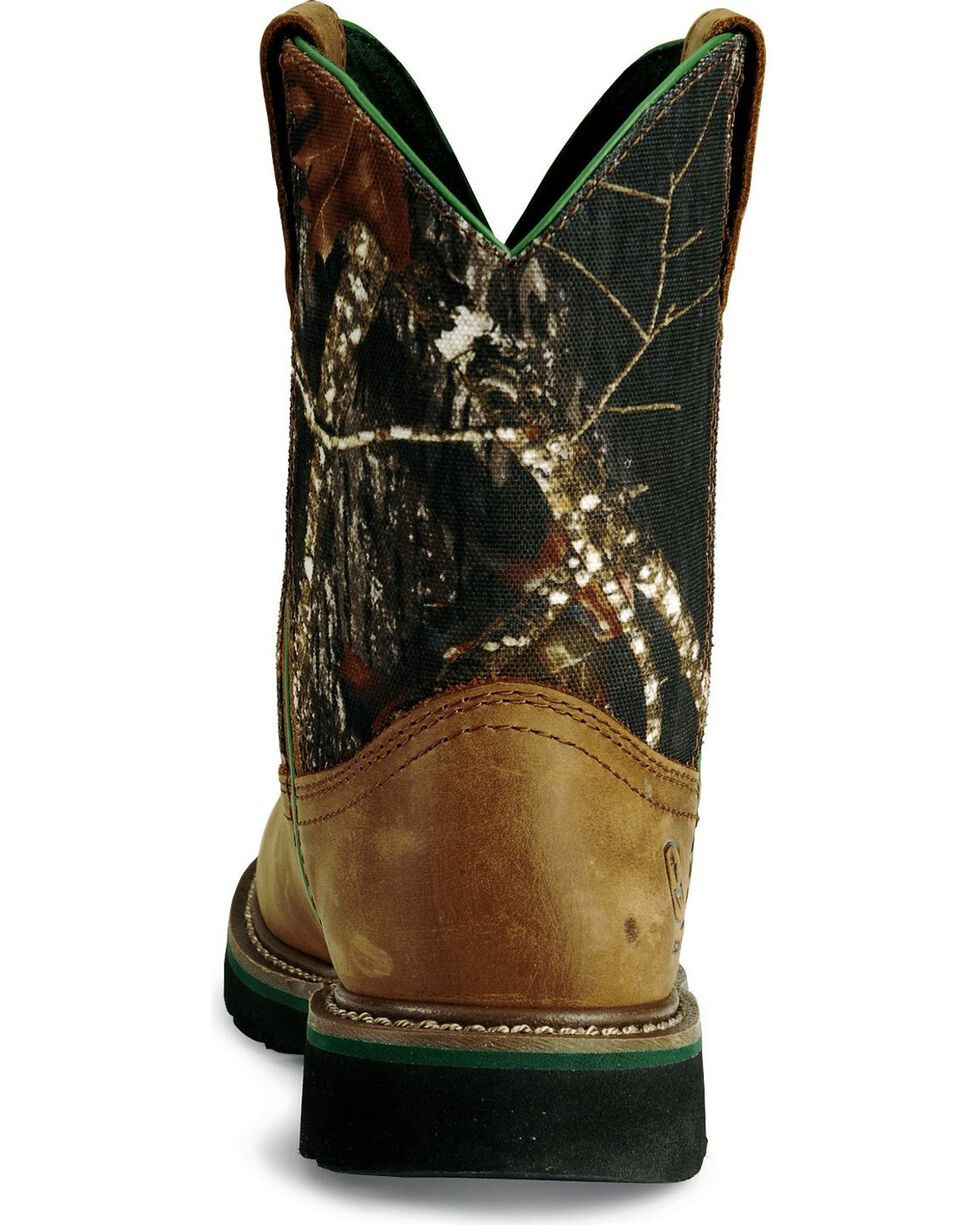 John Deere Youth Boys' Camouflage Boot - Round Toe, Camouflage, hi-res