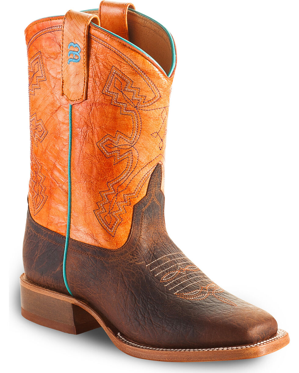 Anderson Bean Boys' Tangerine Marfalous Western Boots - Square Toe, Brown, hi-res