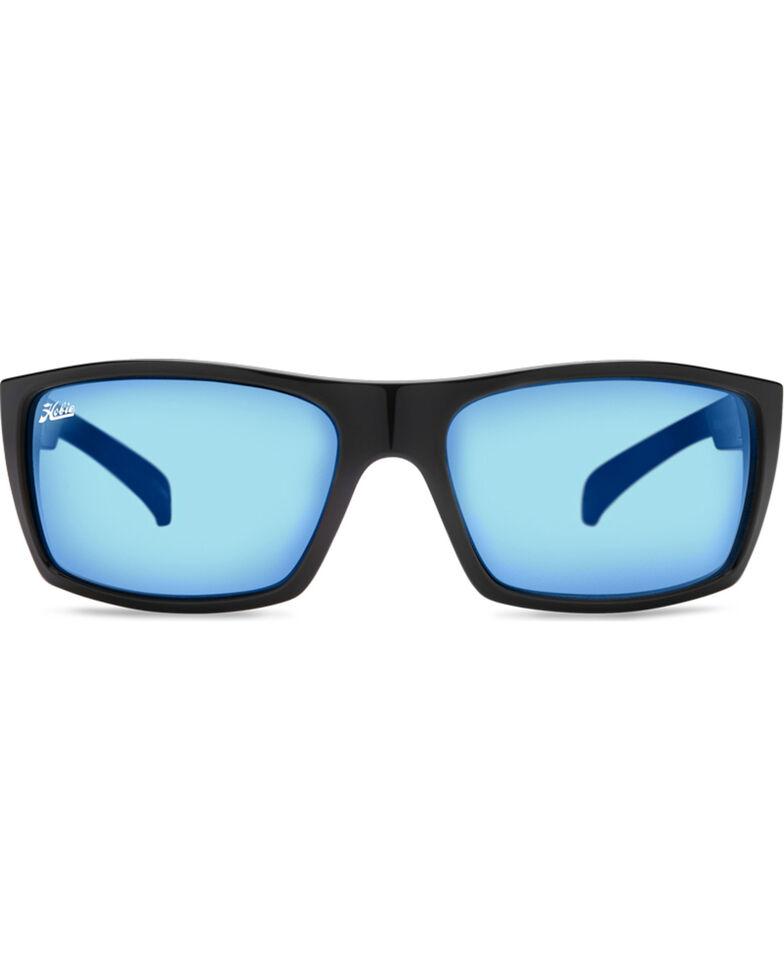 Hobie Men's Cobalt Mirror and Shiny Black Baja Polarized Sunglasses, Black, hi-res
