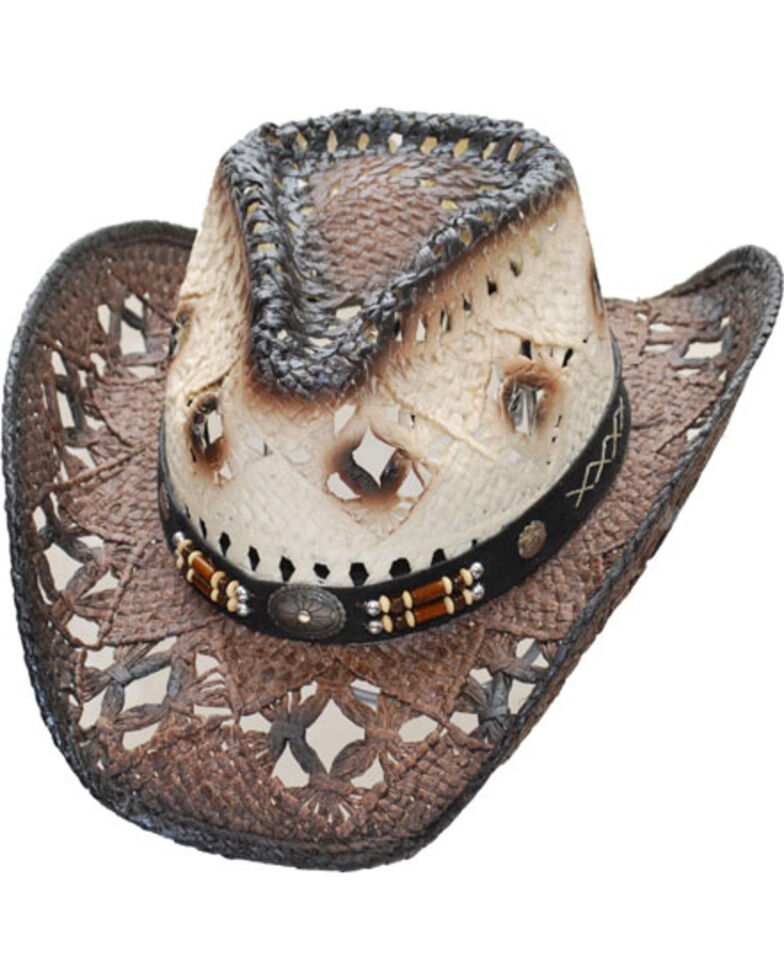 27f73a868e3 Western Express Women s Brown Pinch Front Straw Hat - Country Outfitter