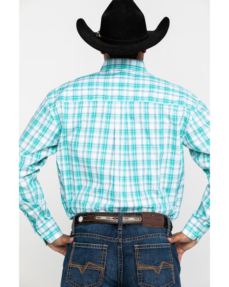 George Strait By Wrangler Men's Green Med Plaid Short Sleeve Western Shirt - Big , Green, hi-res