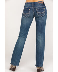 Rock & Roll Cowgirl Women's Extra Stretch Riding Boot Cut Jeans, Blue, hi-res