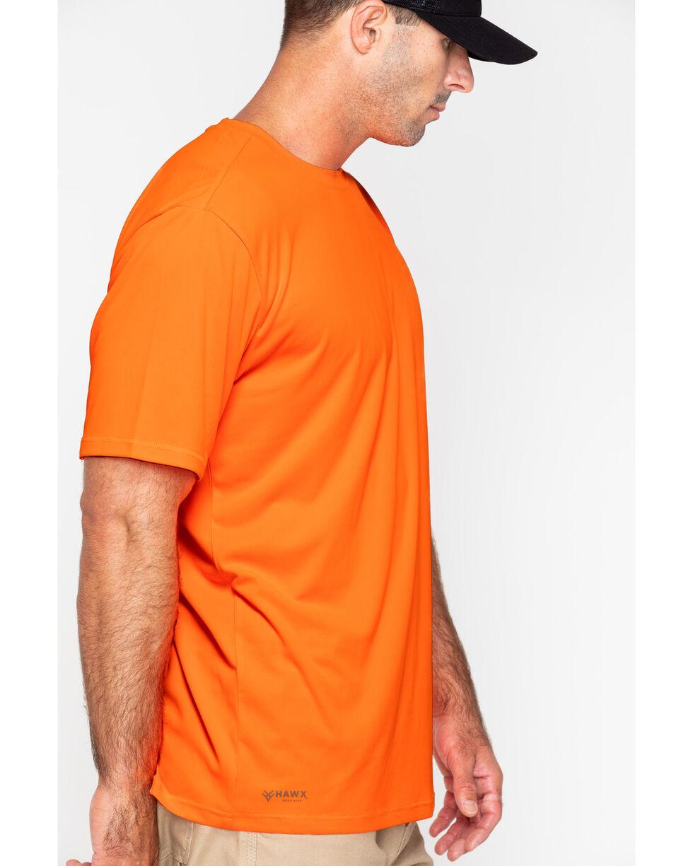 Hawx® Men's Short Sleeve Color-Enhanced Cooling Work Tee , Orange, hi-res