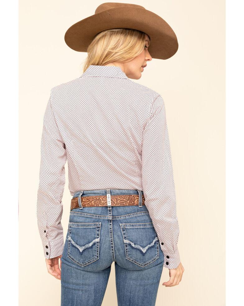 Cinch Women's Pink Dot Button Long Sleeve Western Shirt , Pink, hi-res