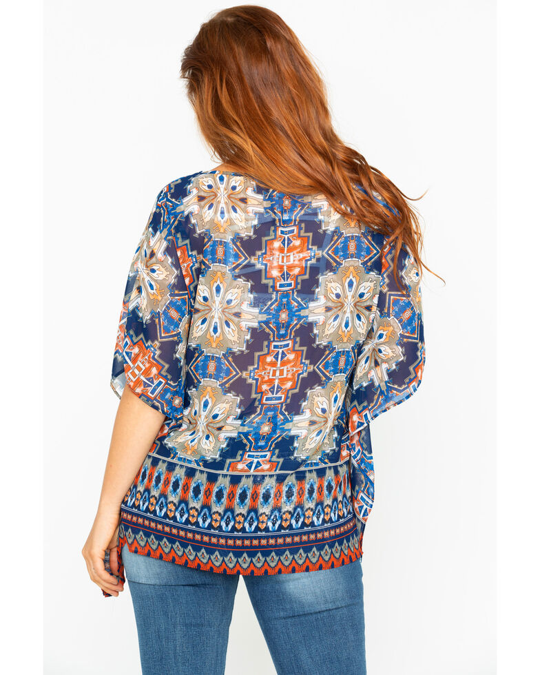 Ariat Women's Wondrous Multi-Print Tunic Top , Multi, hi-res