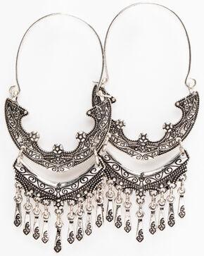 Idyllwind Women's Feel The Fever Hoop Earrings, Silver, hi-res
