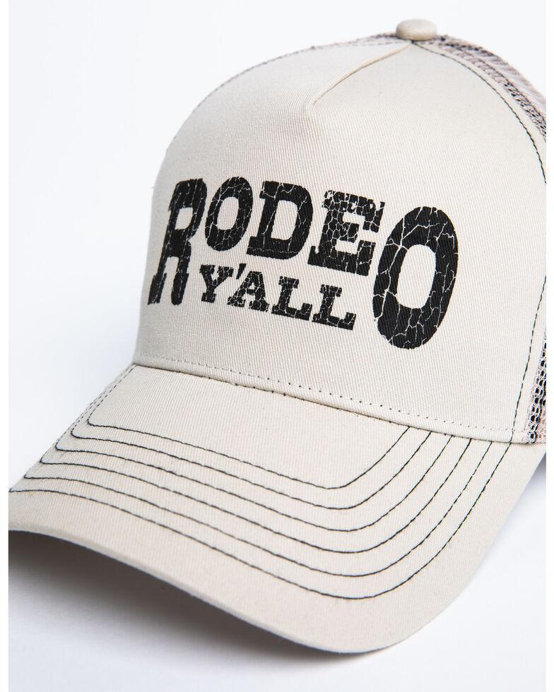 Shyanne Women's Rodeo Y'ALL Mesh Ball Cap , Beige/khaki, hi-res