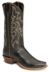 "Nocona Men's  13"" Legacy Calf Boots - Square Toe, Black, hi-res"