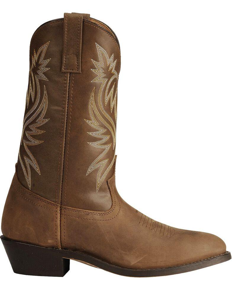 Laredo Basic Cowboy Boots, Tan Distressed, hi-res