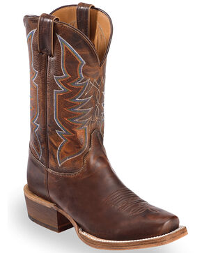 Justin Bent Rail Men's Navigator Western Boots, Brown, hi-res
