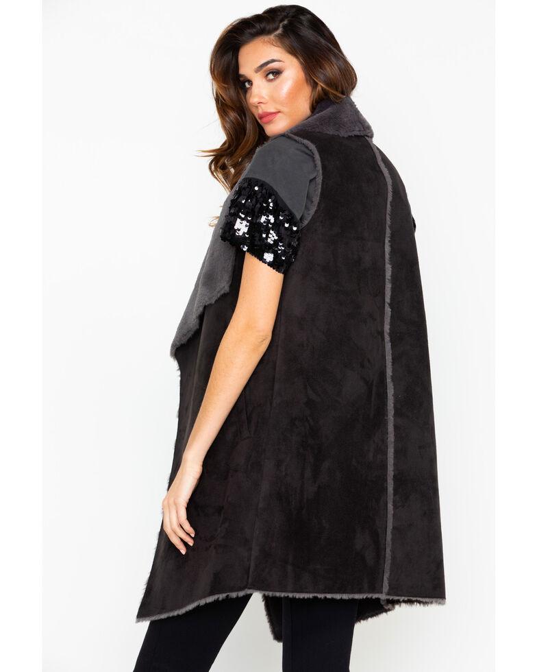 Ariat Women's Hunter Shearling Vest , Black, hi-res