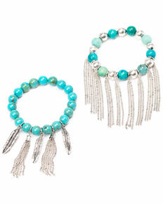 Idyllwind Women's Callin' It Off Fringe Bracelet Set, Turquoise, hi-res