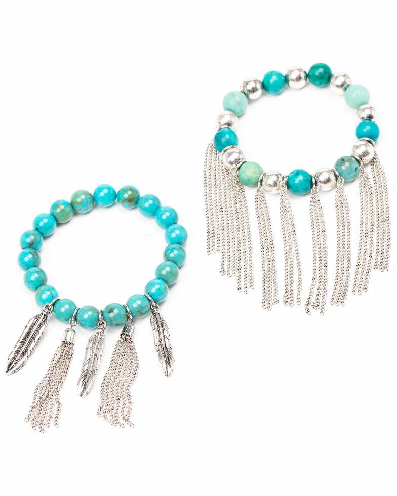 Idyllwind Women's Callin' It Off Fringe Bracelet Set, Turquoise, hi-res