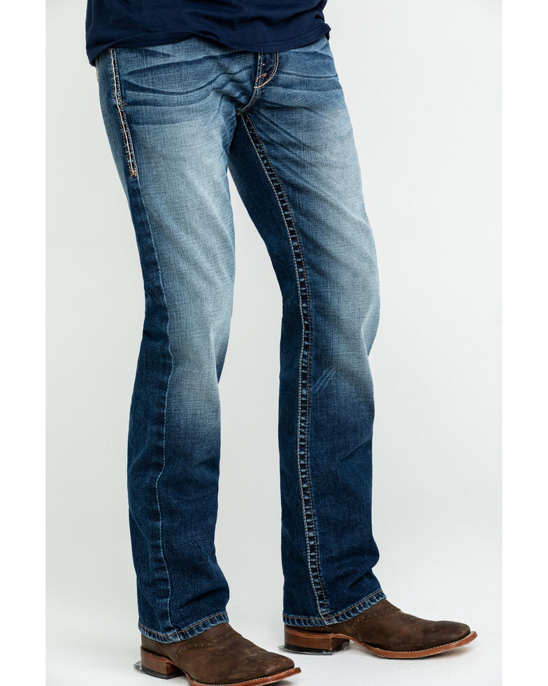 Ariat Men's M7 Rocker Cinder Low Stackable Straight Leg Jeans , Blue, hi-res