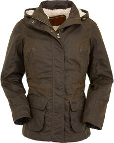 Outback Trading Co. Women's Bronze Adelaide Oilskin Jacket , Bronze, hi-res