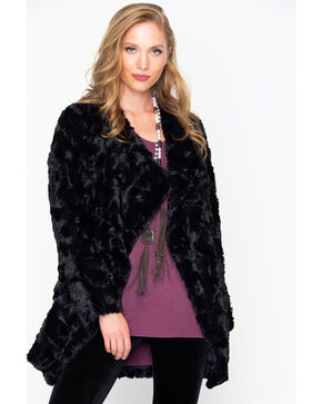 BB Dakota Women's Faux Fur Jacket, Black, hi-res