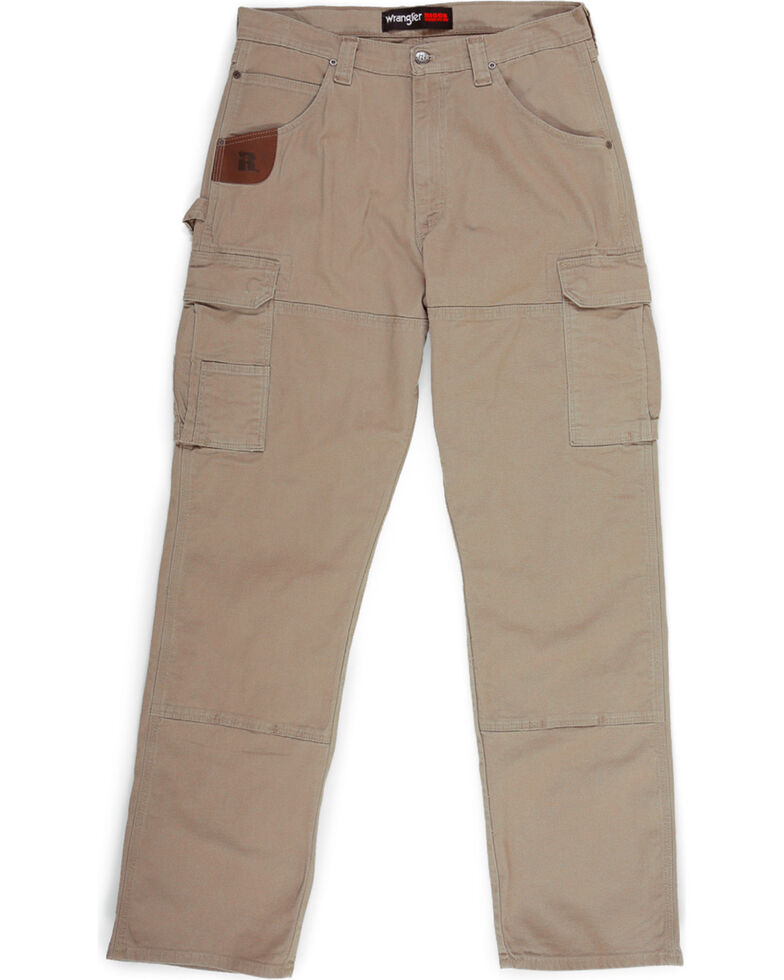 Wrangler Men's Khaki Riggs Workwear Advanced Comfort Ranger Pants , Beige/khaki, hi-res