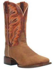 Dan Post Men's Tan Western Boots - Wide Square Toe, Tan, hi-res