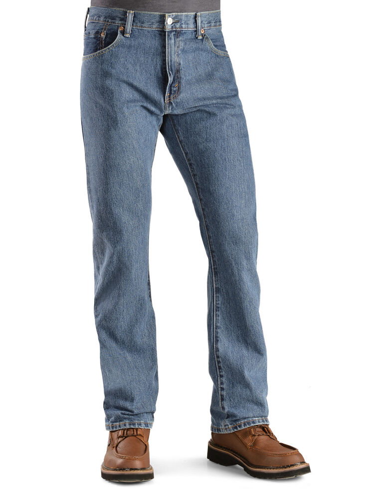 Levi's Men's 517 Prewashed Low Slim Bootcut Jeans , Stonewash, hi-res