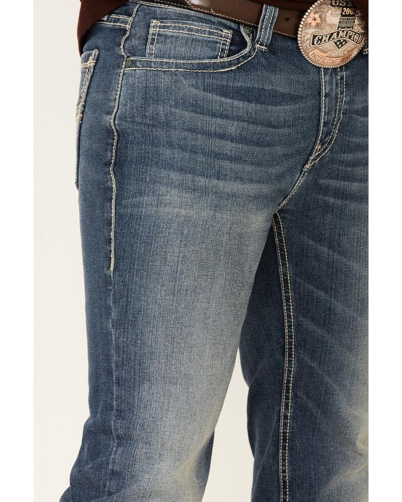 Rock & Roll Denim Men's Pistol Med Stretch Regular Straight Leg Jeans , Blue, hi-res