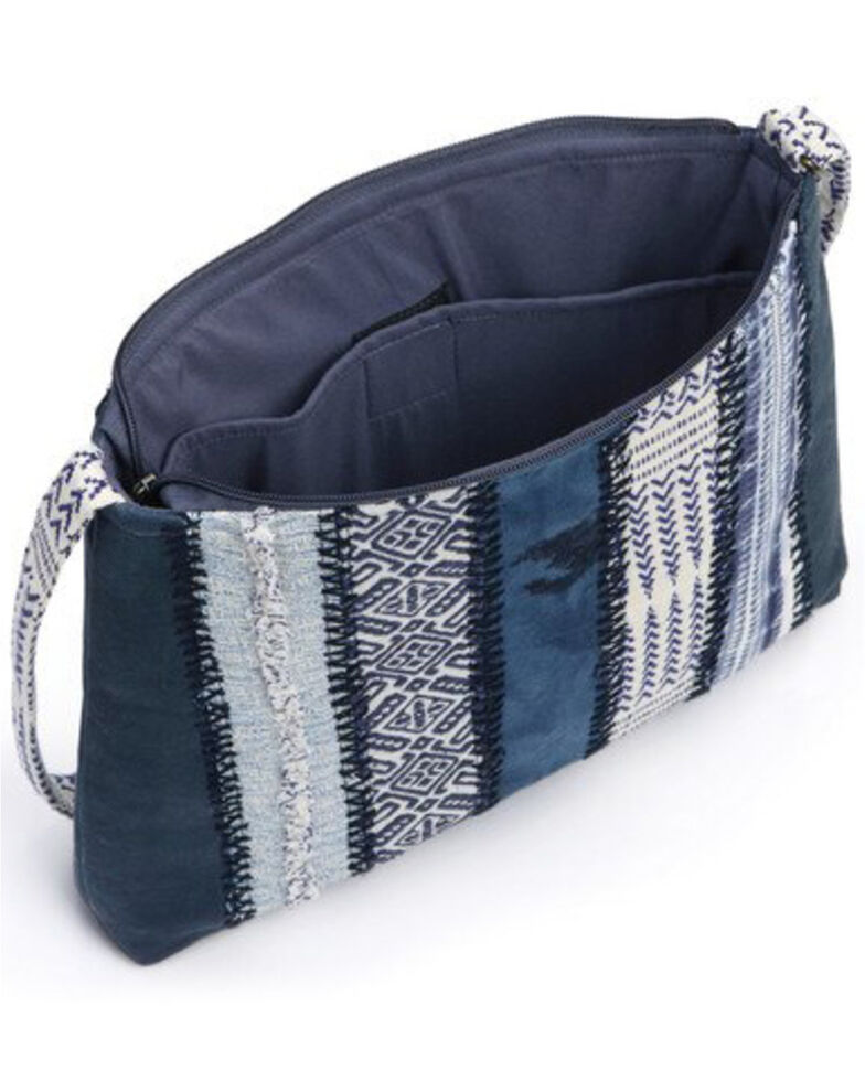Demdaco Women's Journey Indigo Denim Crossbody Bag, Indigo, hi-res