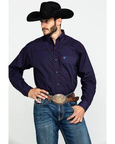 Ariat Men's Tankson Geo Print Long Sleeve Western Shirt - Big , Multi, hi-res