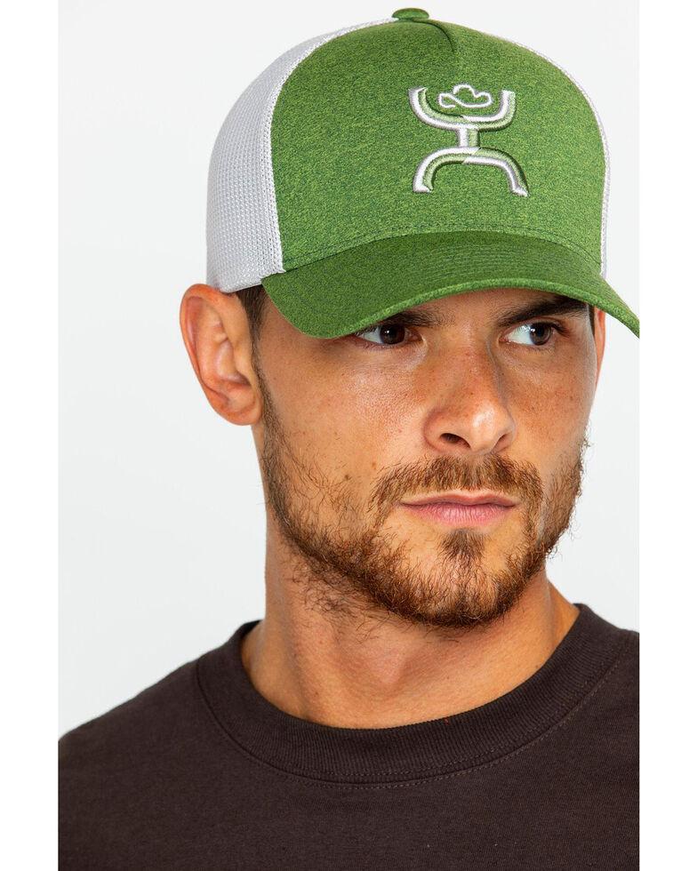 HOOey Men's Coach Green Mesh Cap, Green, hi-res