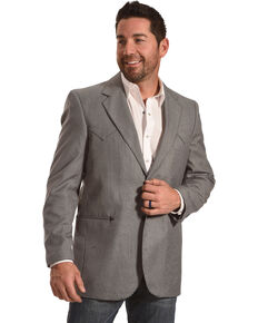Circle S Men's Carson City Graphite Sport Coat - Reg & Long, Grey, hi-res