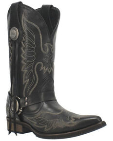 Dingo Men's Screamin' Eagle Western Boots - Snip Toe, Black, hi-res