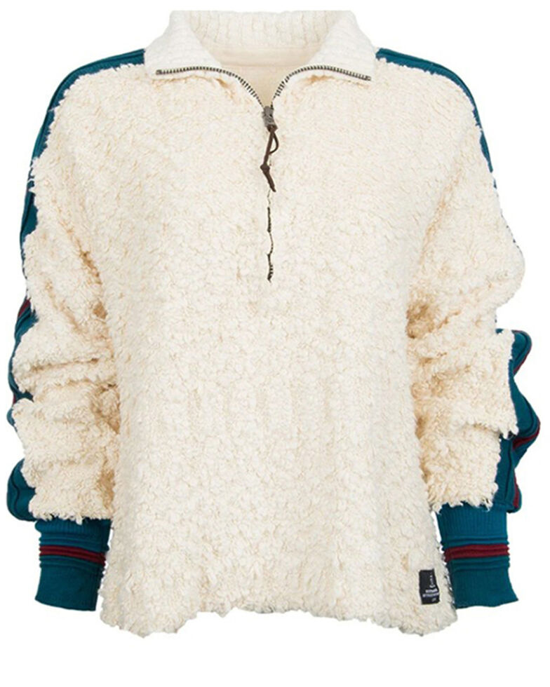 STS Ranchwear Women's White Carty Fleece Pullover , White, hi-res