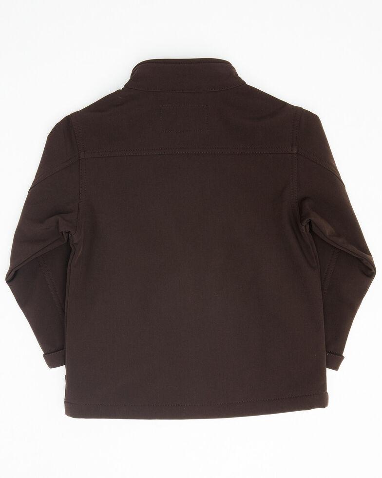 Cody James Toddler Boys' Brown Steamboat Softshell Bonded Zip Front Jacket, Dark Brown, hi-res