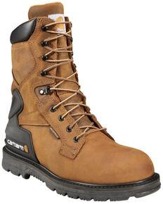 """Carhartt Men's 8"""" Bison Waterproof Work Boots - Steel Toe, Bison, hi-res"""
