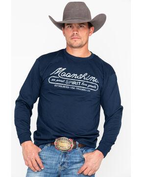 Moonshine Spirit Men's Brand Logo Long Sleeve T-Shirt, Indigo, hi-res