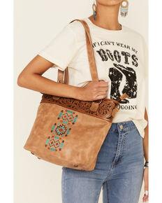 Shyanne Women's Madison Aztec Tote Handbag, Tan, hi-res