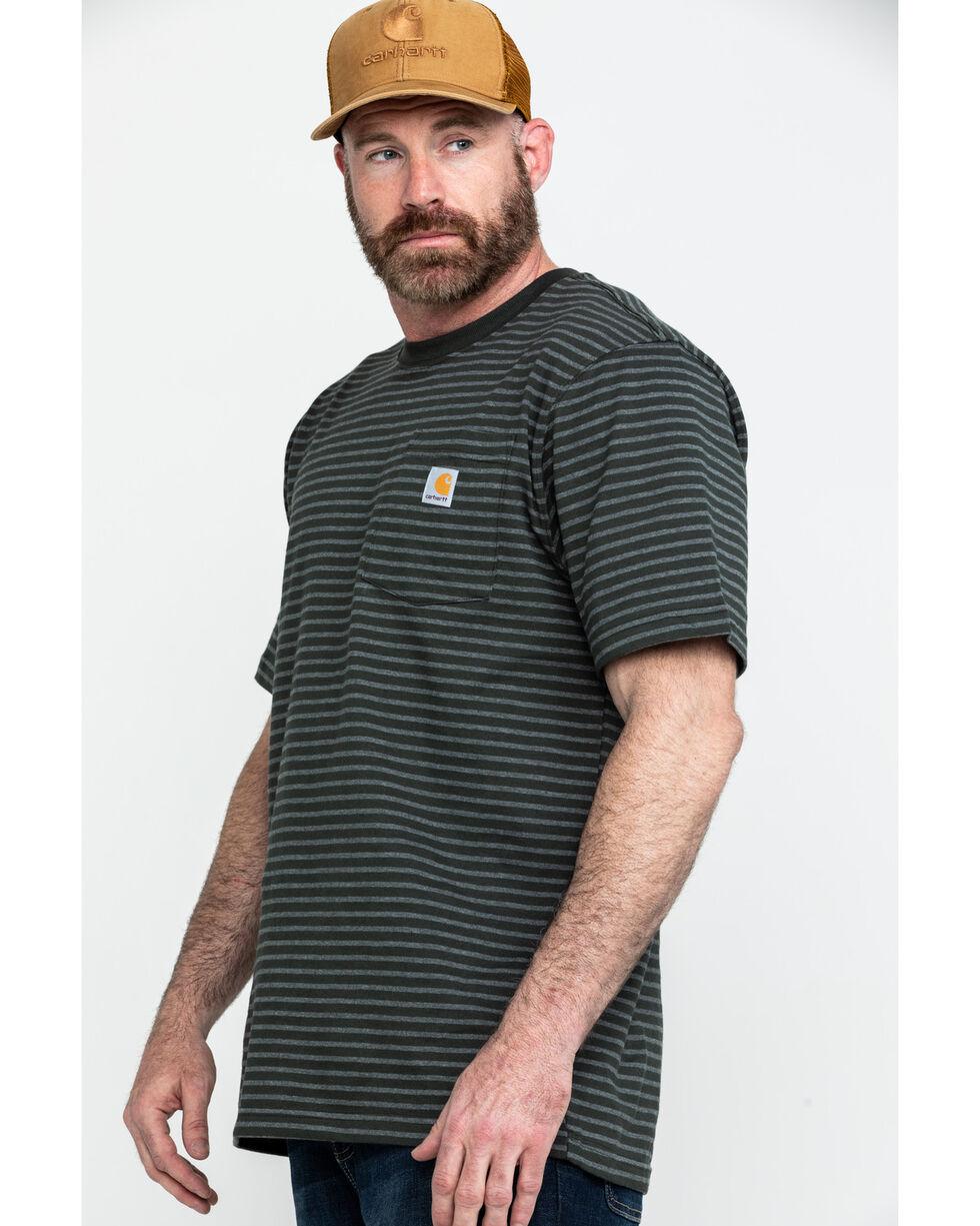 Carhartt Men's Peat Stripe Workwear Pocket Short-Sleeve Work T-Shirt - Big , Dark Grey, hi-res