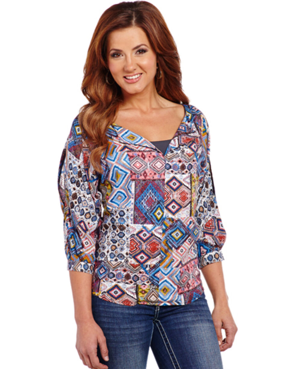 Cowgirl Up Southwestern Top, Print, hi-res