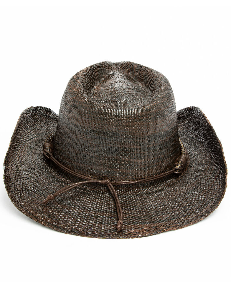 Cody James Men's Wilder Western Straw Hat , Brown, hi-res