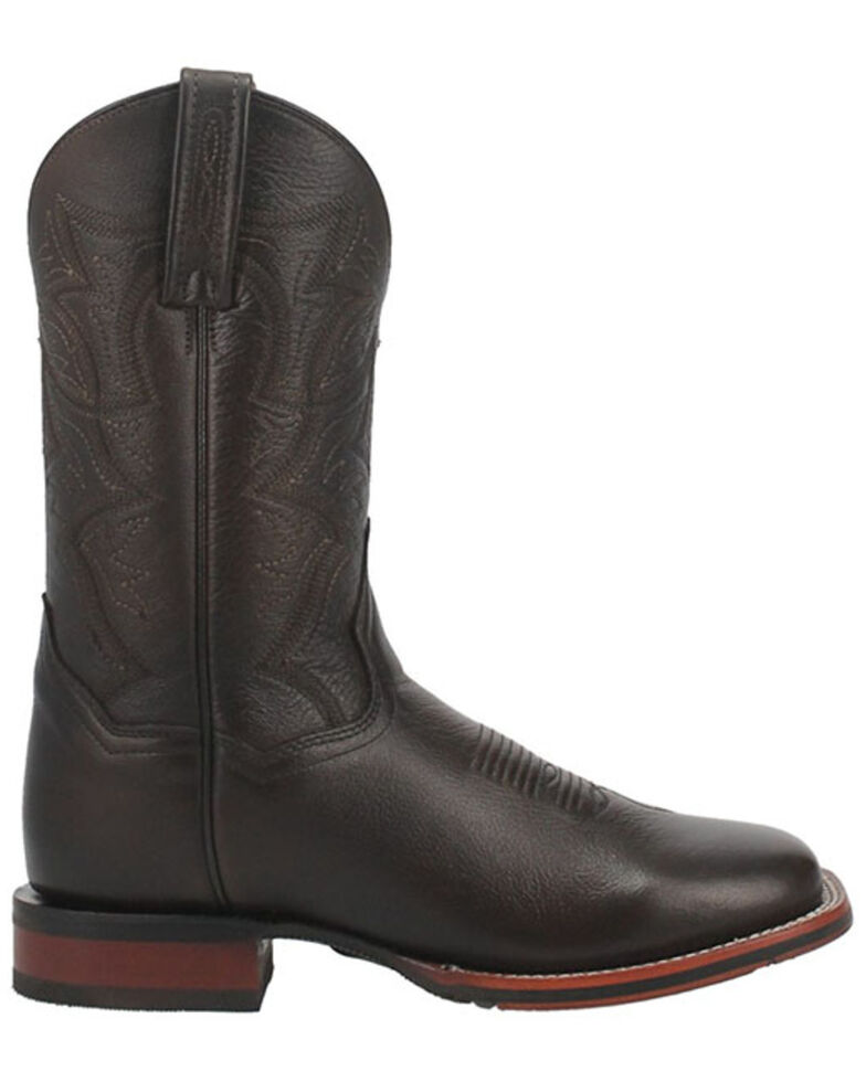 Dan Post Men's Stockman Western Boots - Wide Square Toe, Brown, hi-res
