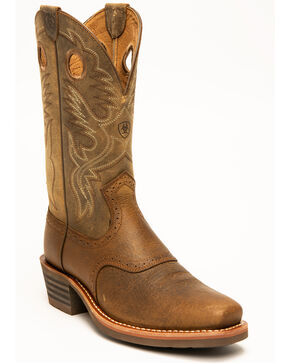 Ariat Heritage Rough Stock Boots - Square Toe, Earth, hi-res