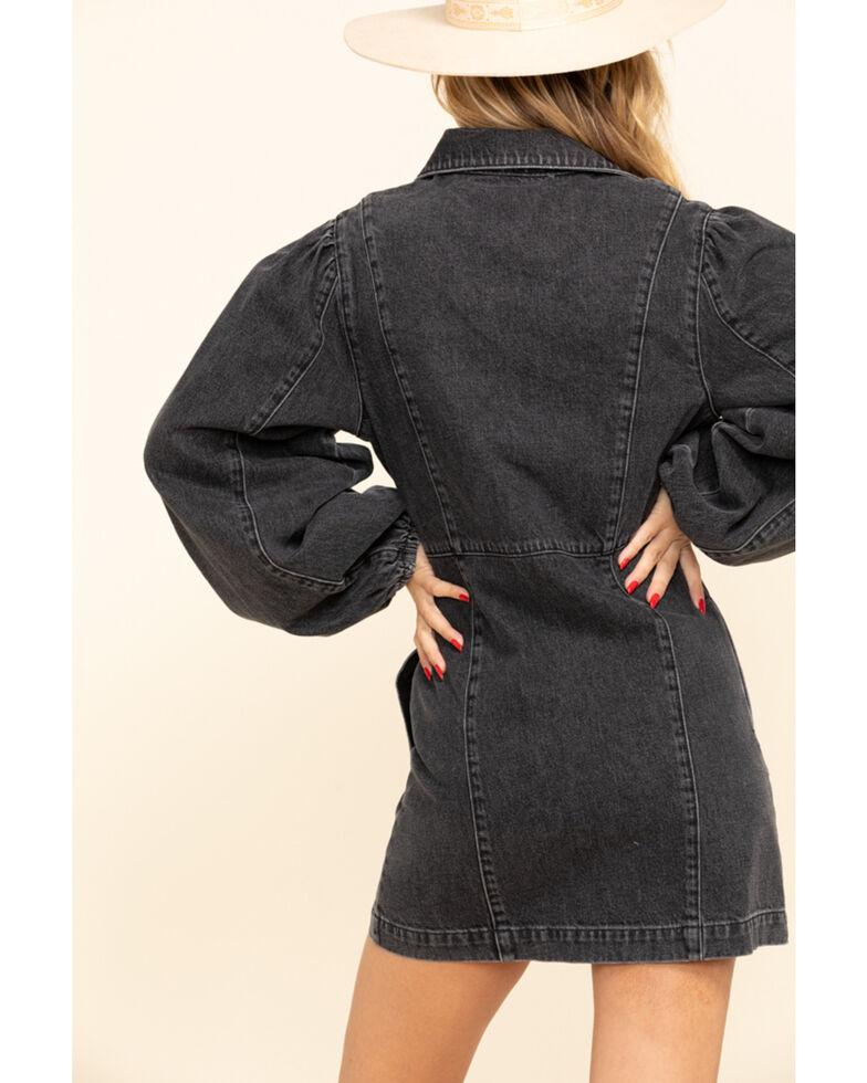 Free People Women's Black Denim Mia Dress, Black, hi-res