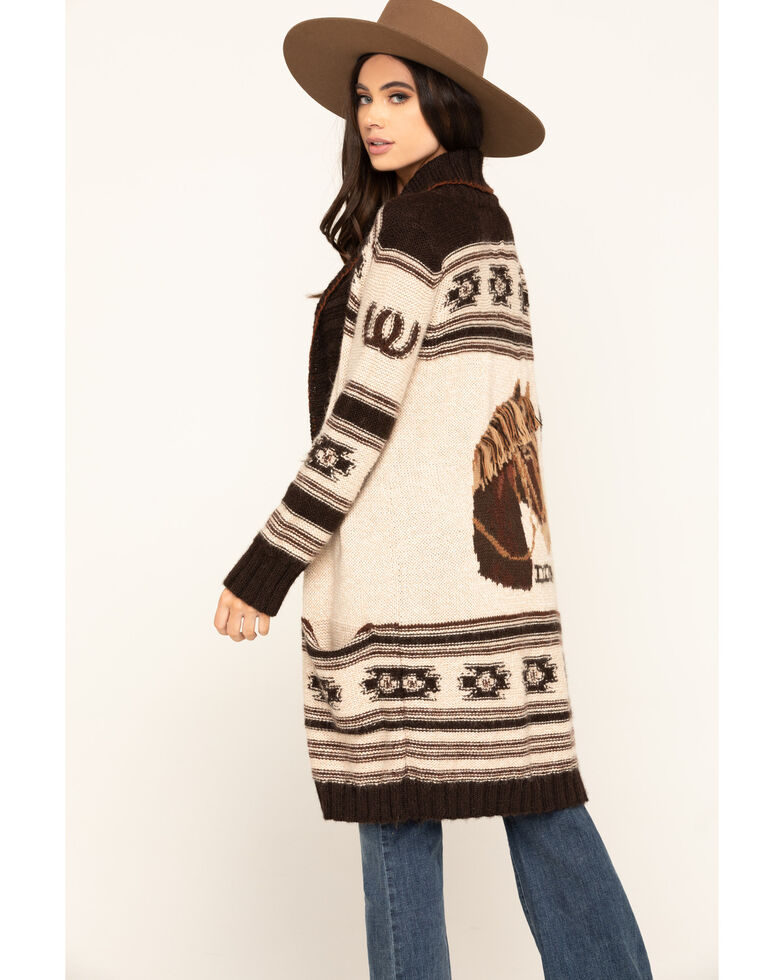 Double D Ranch Women's Spanish Pony Sweater, Multi, hi-res
