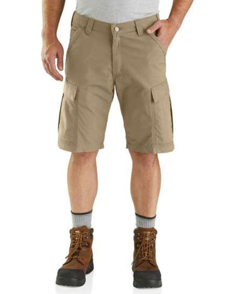 Carhartt Men's Force Broxton Cargo Work Shorts , Beige/khaki, hi-res