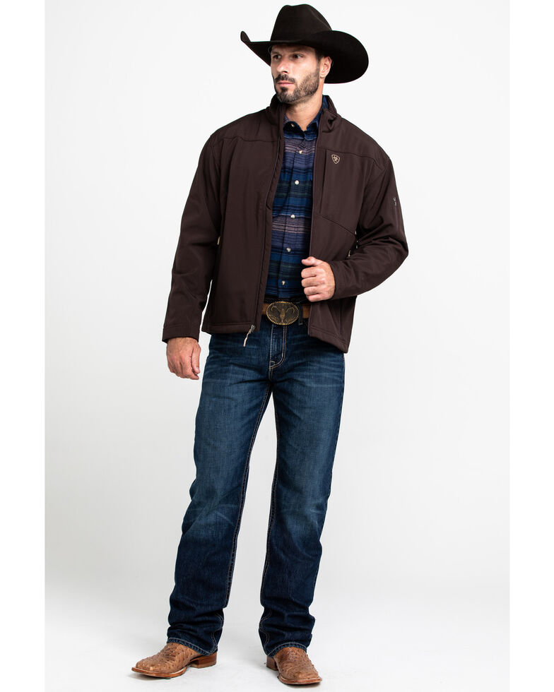 Ariat Men's Coffee Bean Vernon 2.0 Softshell Jacket - Big & Tall , Brown, hi-res