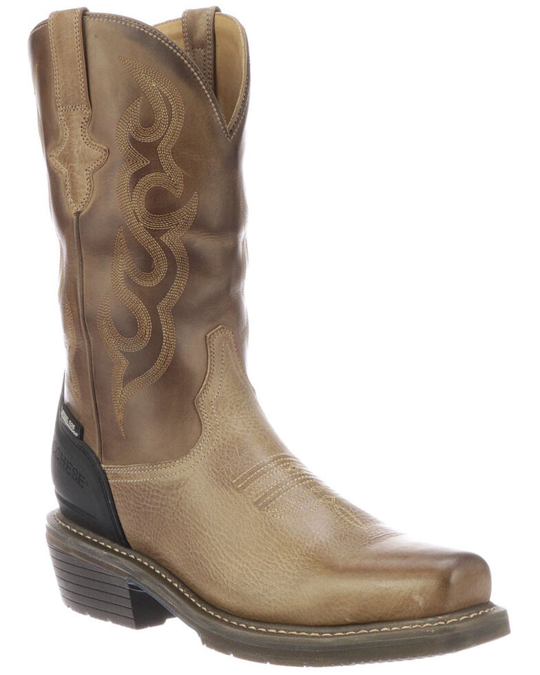 Lucchese Men's Waterproof Welted Western Work Boots - Steel Toe, Grey, hi-res