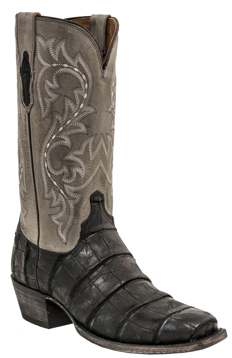 Lucchese Men's Handmade Burke Alligator Western Boots - Square Toe, Black, hi-res