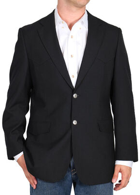Cody James Men's Black Sport Coat , Black, hi-res